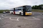 Größenvergleich Schaufelrad - Bus