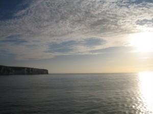 Kreidefelsen von Dover im Sonnenaufgang